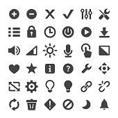 Control and Toolbar Vector Icons