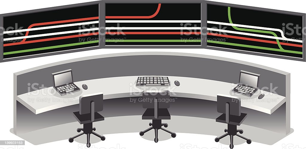 control center vector art illustration