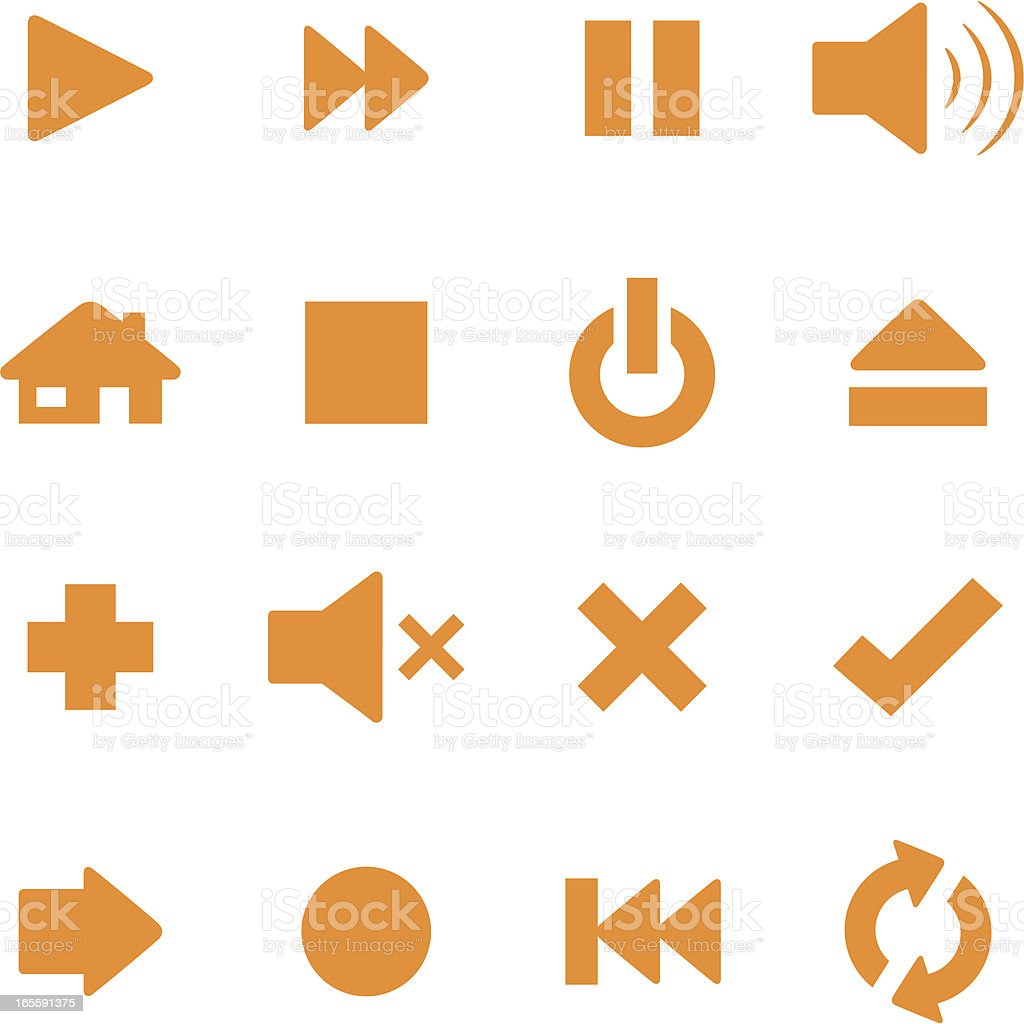Control Icons royalty-free stock vector art