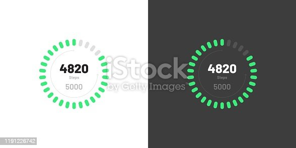 istock Control knob used for regulating. Dashboard UI and UX Kit. Control center design. Progress bar. Temperature control. 1191226742