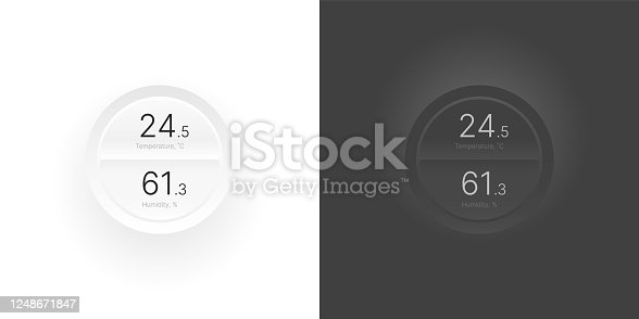 istock Control knob used for regulating. UI and UX Kit. 1248671847