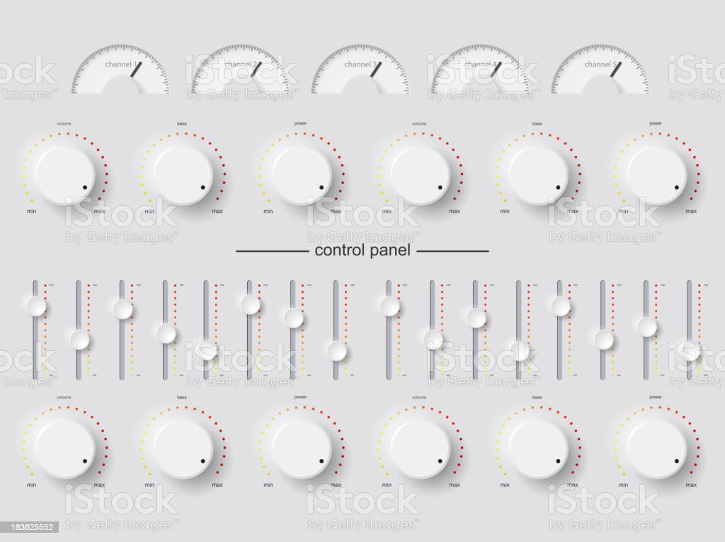 control panel vector art illustration