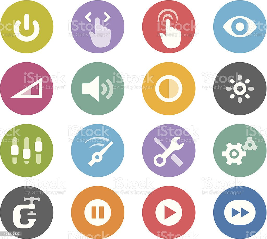 Control Panel / Wheelico icons vector art illustration