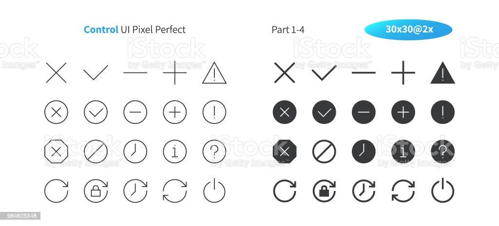 Steuern Ui Pixel Perfekt Gut Gemachte Dünne Vektorlinie Und Solide ...