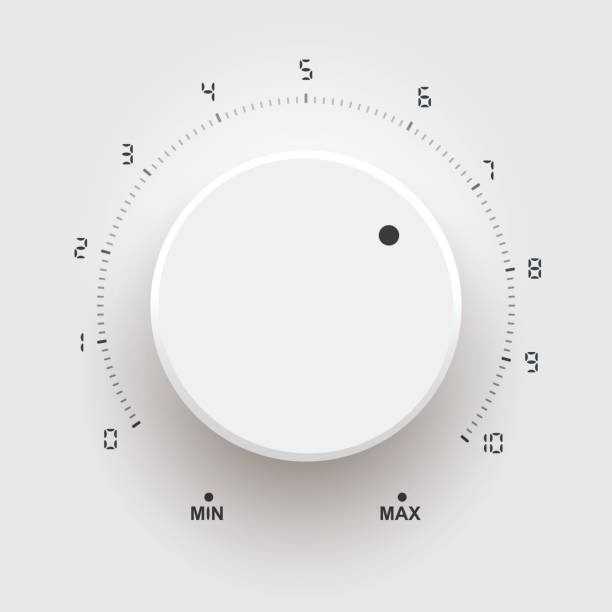 Control volume Control volume knob stock illustrations