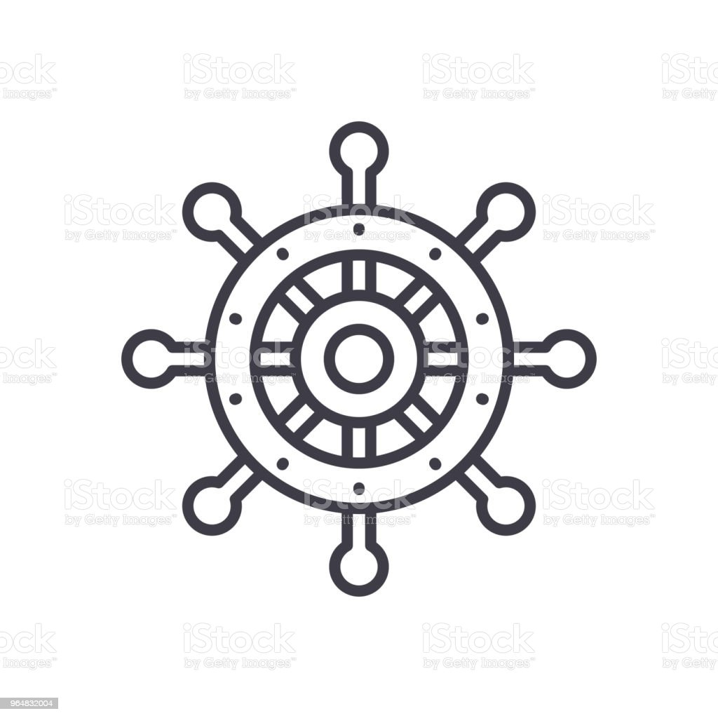 Control wheel black icon concept. Control wheel flat  vector symbol, sign, illustration. royalty-free control wheel black icon concept control wheel flat vector symbol sign illustration stock vector art & more images of automated