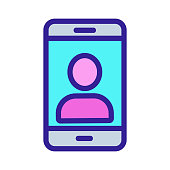 Control with the phone icon vector. A thin line sign. Isolated contour symbol illustration