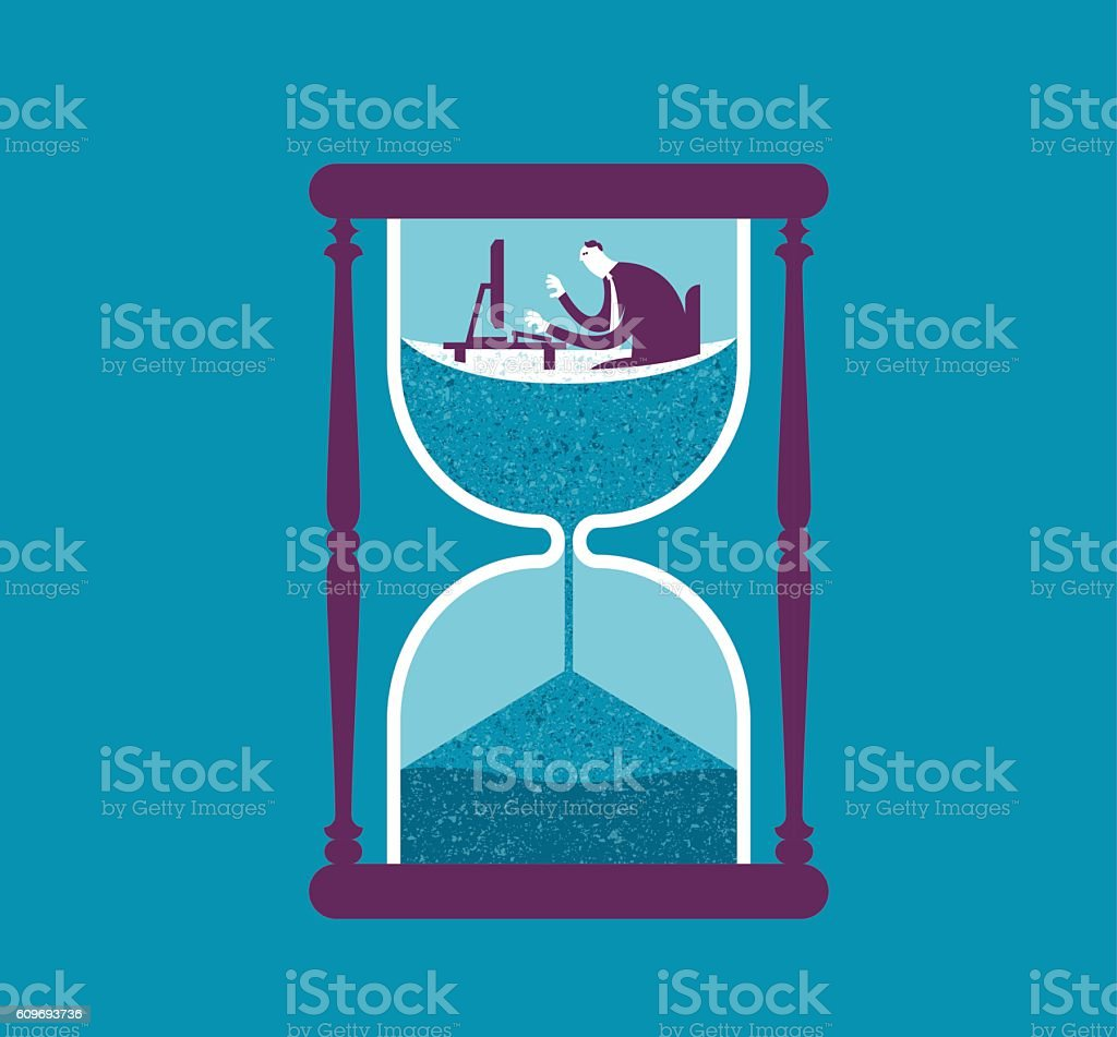 Control your time vector art illustration