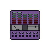 Controller, equalizer, audio icon. Element of color music studio equipment icon. Premium quality graphic design icon. Signs and symbols collection icon