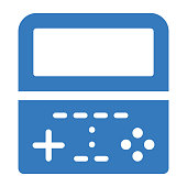 istock Controller, gaming, video game icon. Blue color vector isolated on a white background 1270586069