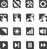 Controller Silhouette icons | EPS10