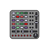 Controller, touchpad, audio icon. Element of color music studio equipment icon. Premium quality graphic design icon. Signs and symbols collection icon