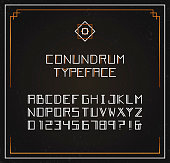Conundrum exclusive typeface. Vector font