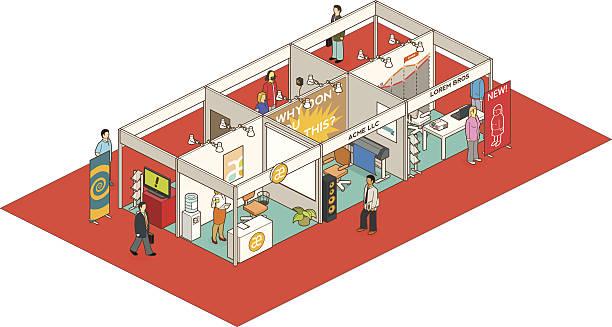 convention center vector art illustration