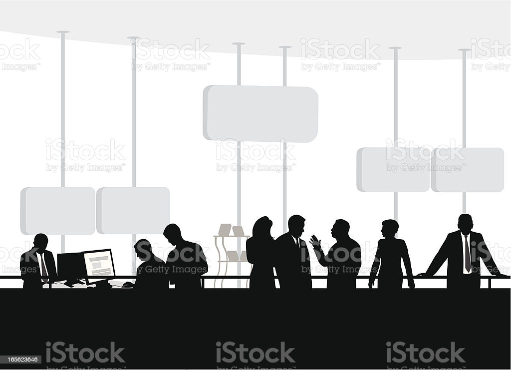 Conventioneering Vector Silhouette royalty-free stock vector art