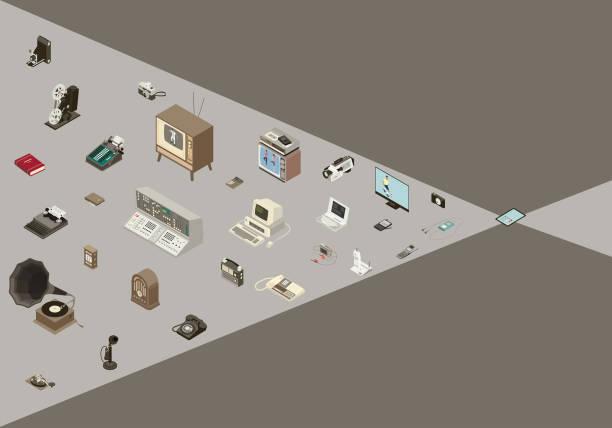 Converging Technology Illustration vector art illustration