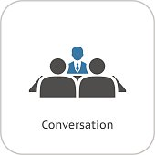 Conversation Icon. Flat Design.