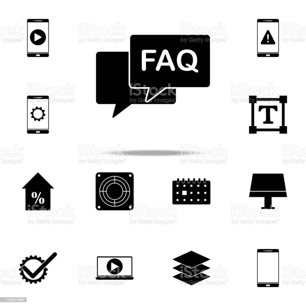 FAQ conversation icon. web icons universal set for web and mobile - illustrazione arte vettoriale