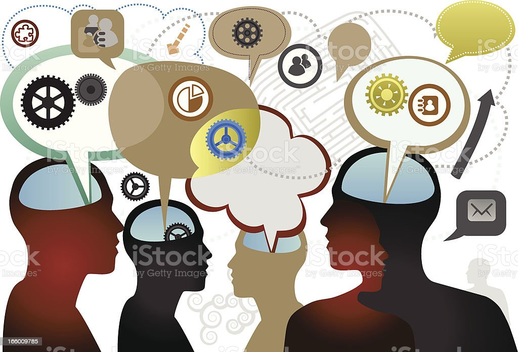 Conversation royalty-free conversation stock vector art & more images of adult