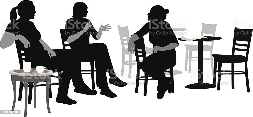 Conversations Vector Silhouette vector art illustration