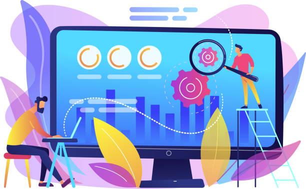 ilustrações de stock, clip art, desenhos animados e ícones de conversion rate optimization concept vector illustration. - alter do chão