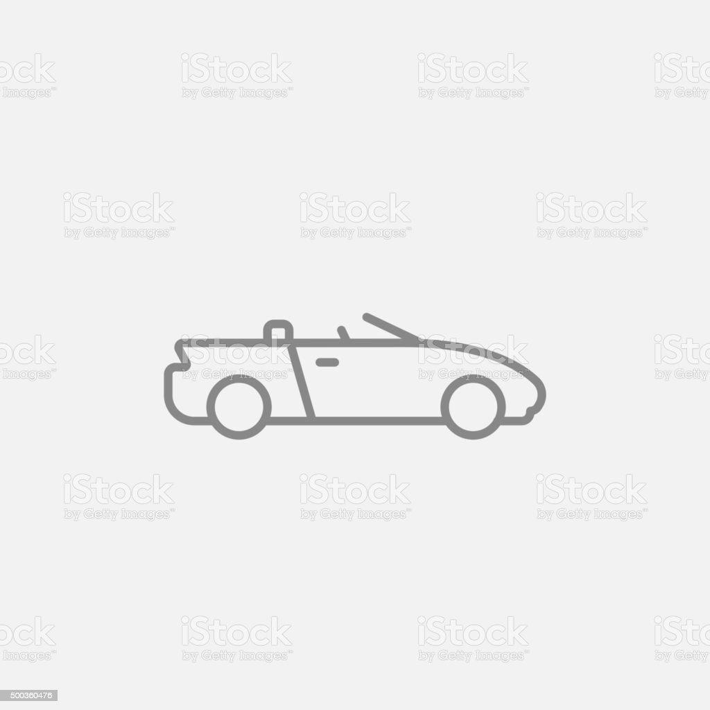 Convertible car line icon vector art illustration