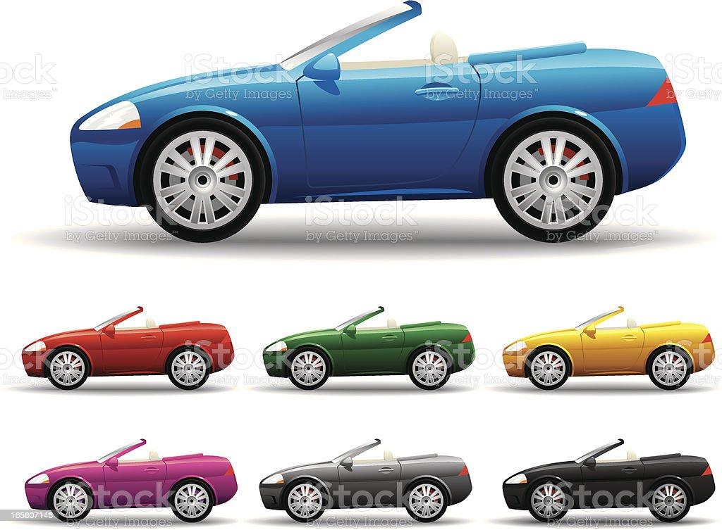 Convertible Car royalty-free convertible car stock vector art & more images of alternative energy