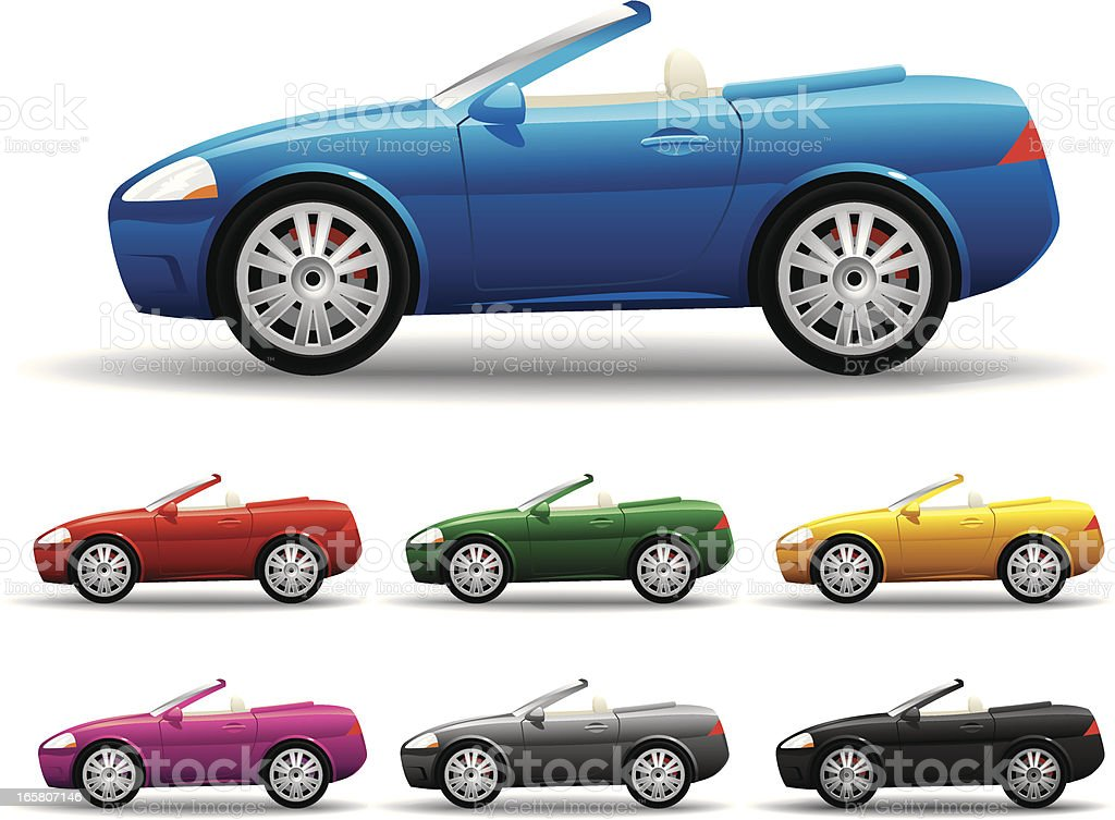 Convertible Car vector art illustration