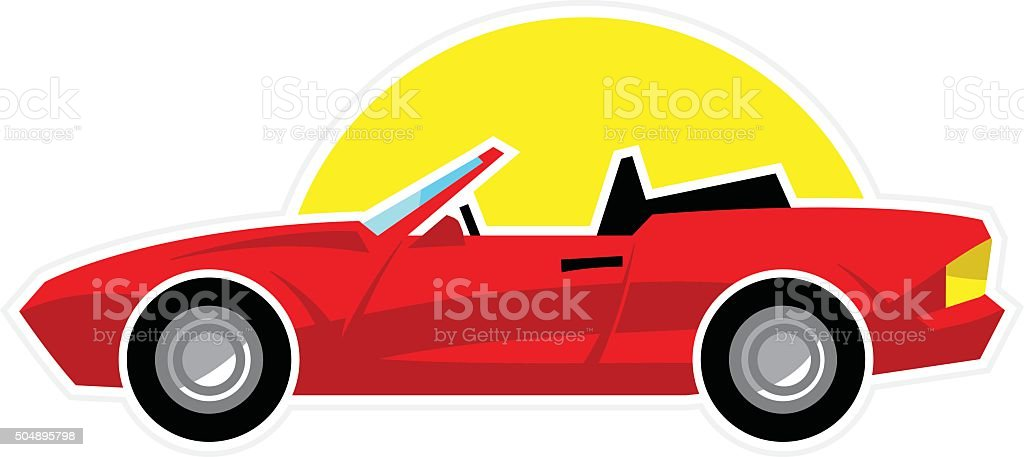 Convertible Sports Car vector art illustration
