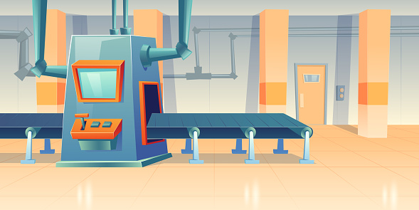 Conveyor belt and assembly machine at factory