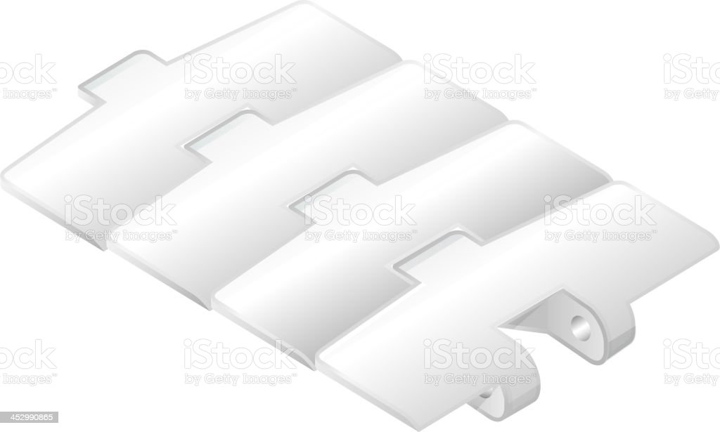 Conveyor belt component royalty-free stock vector art