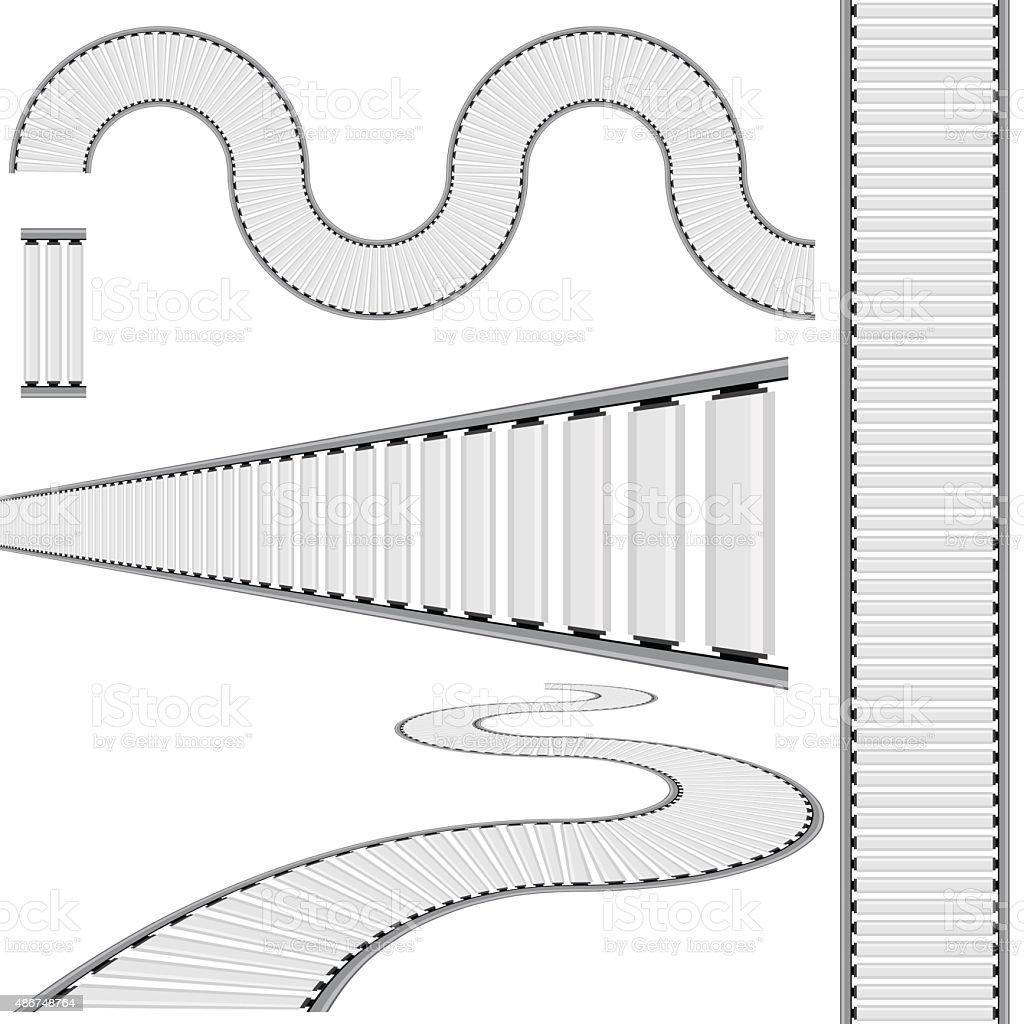 Conveyor Belt Icon Set