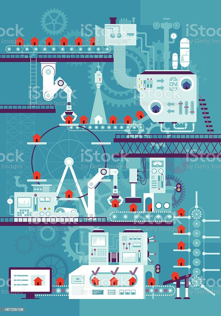 conveyor belt vector art illustration
