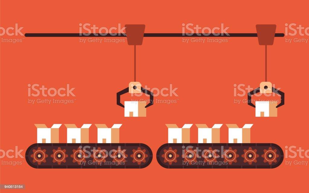 conveyor copy vector art illustration