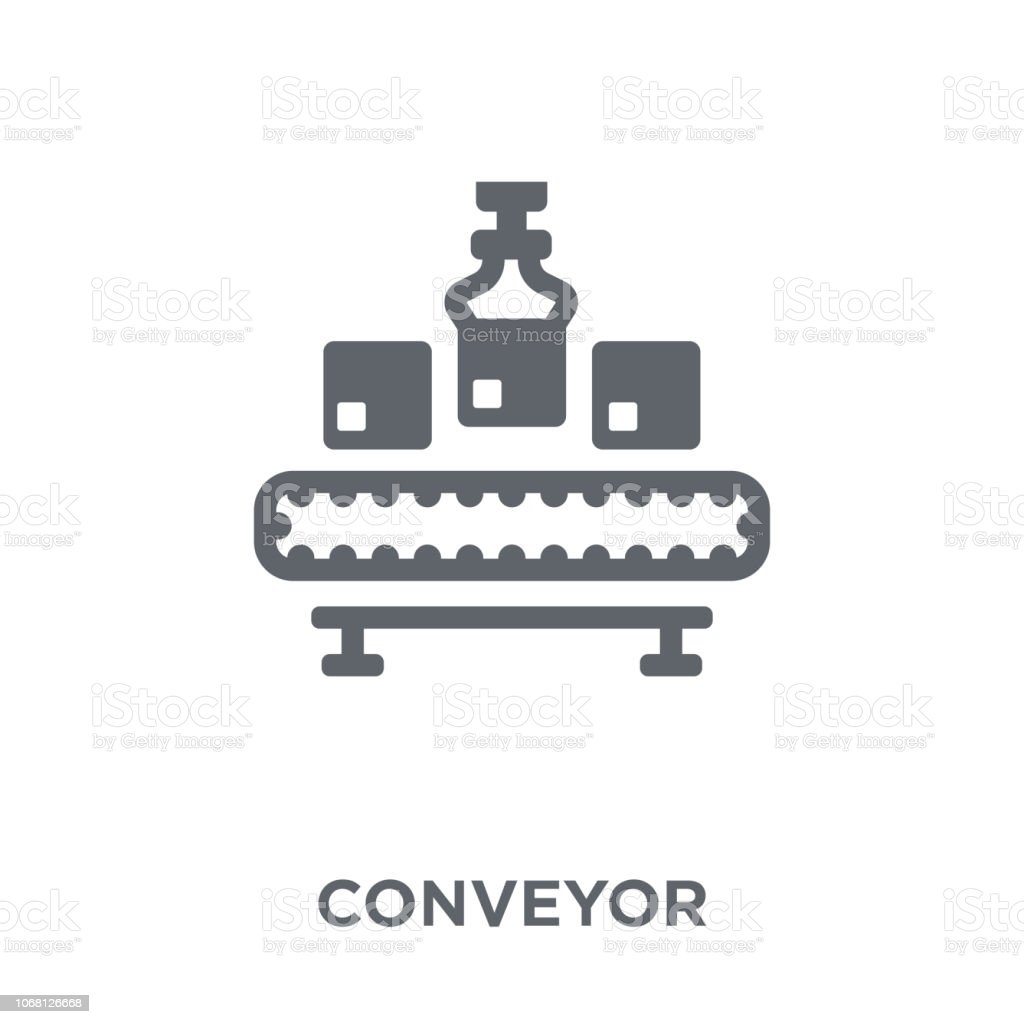 Conveyor icon from Delivery and logistic collection. vector art illustration