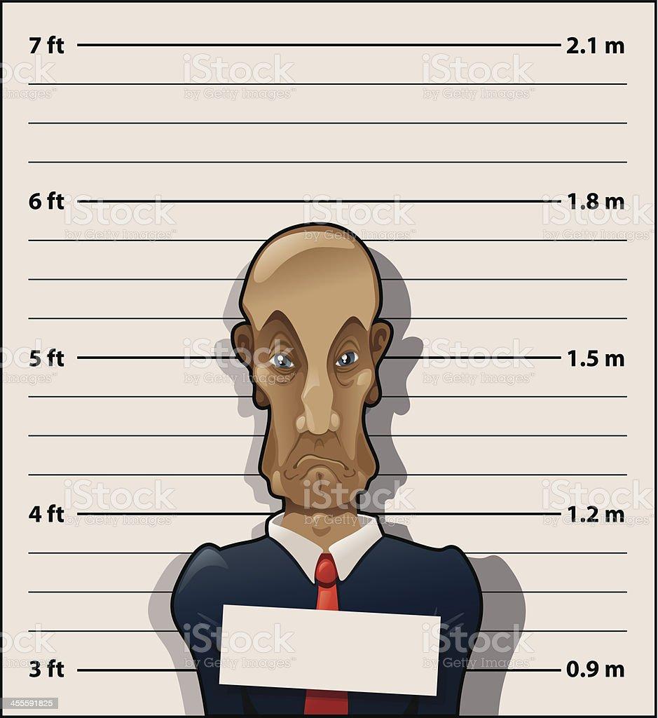 Convict accountant royalty-free stock vector art