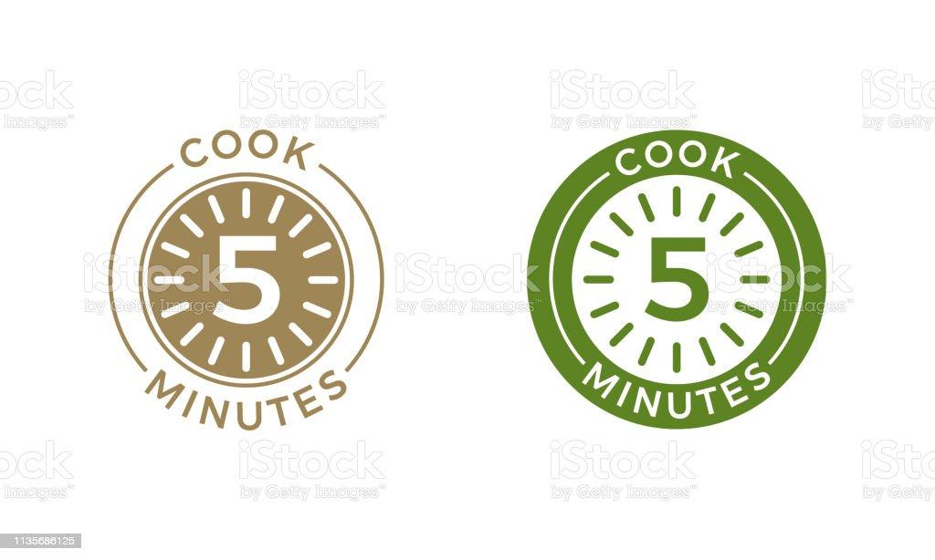 Ilustración Icono Cereales Pasta Cocinar 5 Minutos Reloj Y De TFKJlc31