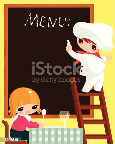istock Cook and visitor. 139488191