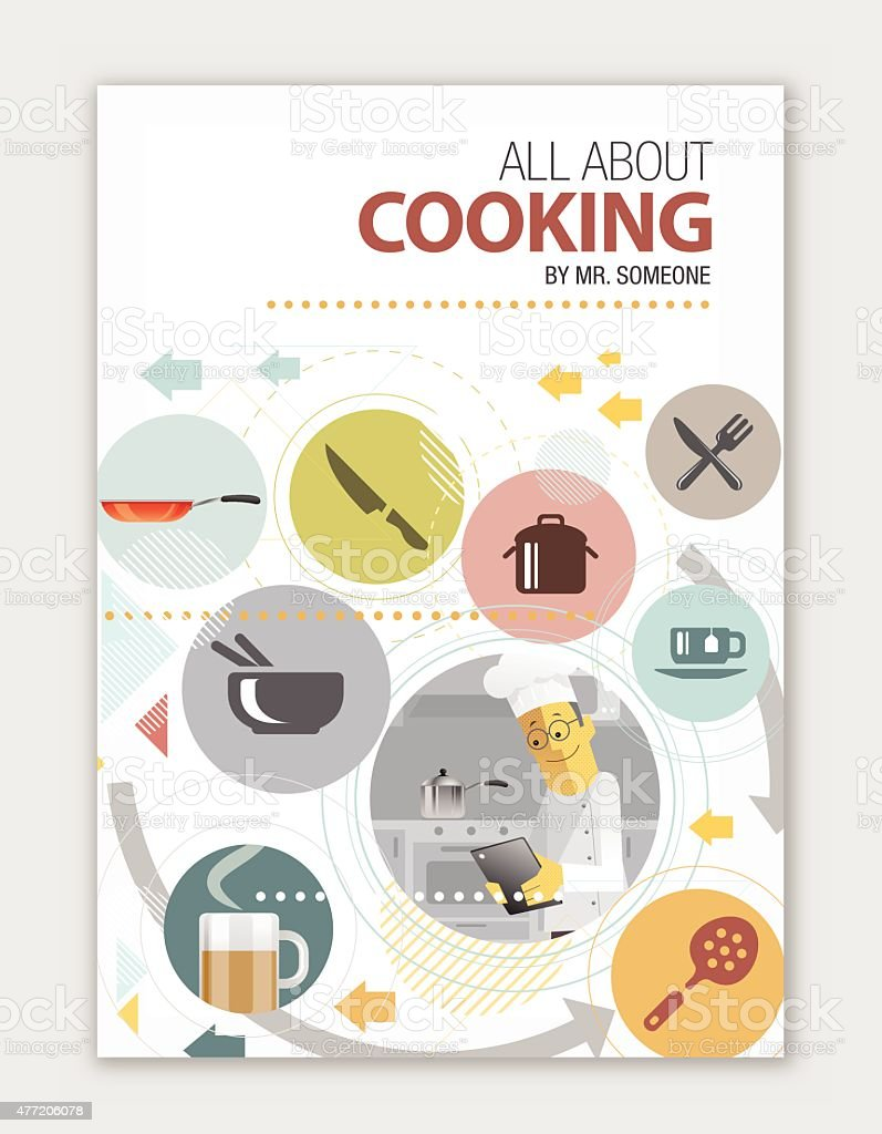 Cookbook Cover Layout : Cook book cover design stock vector art more images of