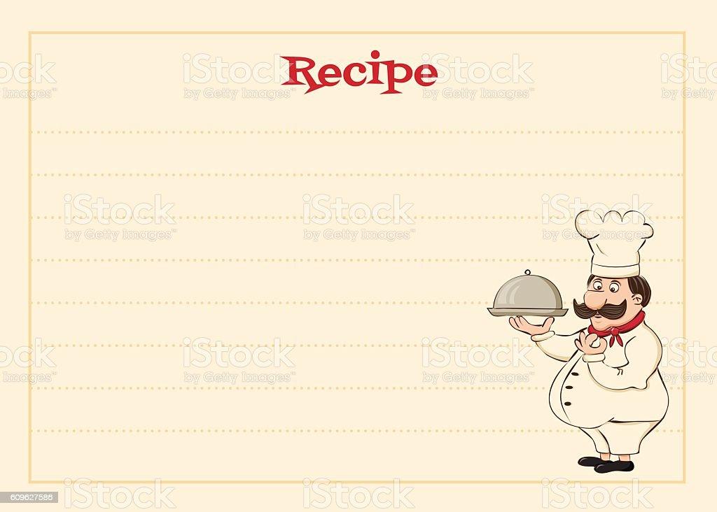 cook card vector art illustration