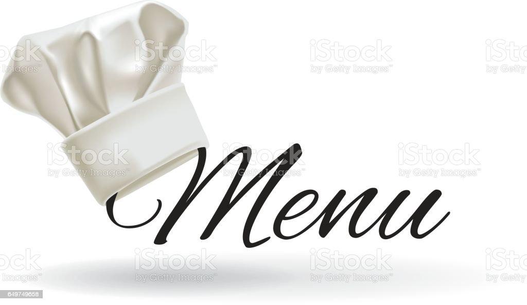 Cook hat. Menu chef hat, vector illustration vector art illustration