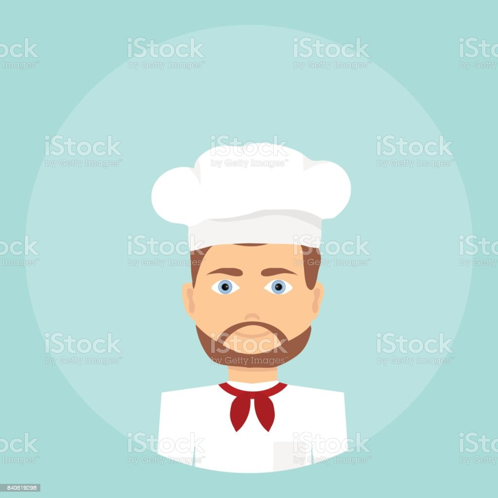 Cook, icon of the cook vector art illustration