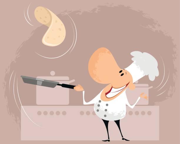 bildbanksillustrationer, clip art samt tecknat material och ikoner med laga mat i köket - crepe