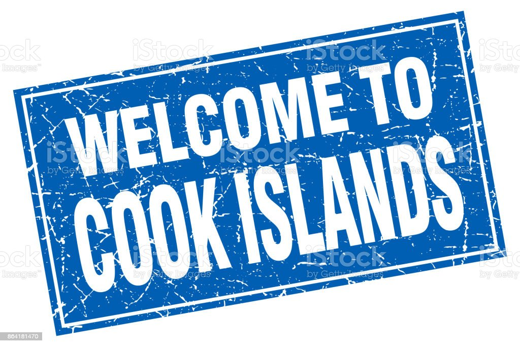 Cook Islands blue square grunge welcome to stamp royalty-free cook islands blue square grunge welcome to stamp stock vector art & more images of backgrounds