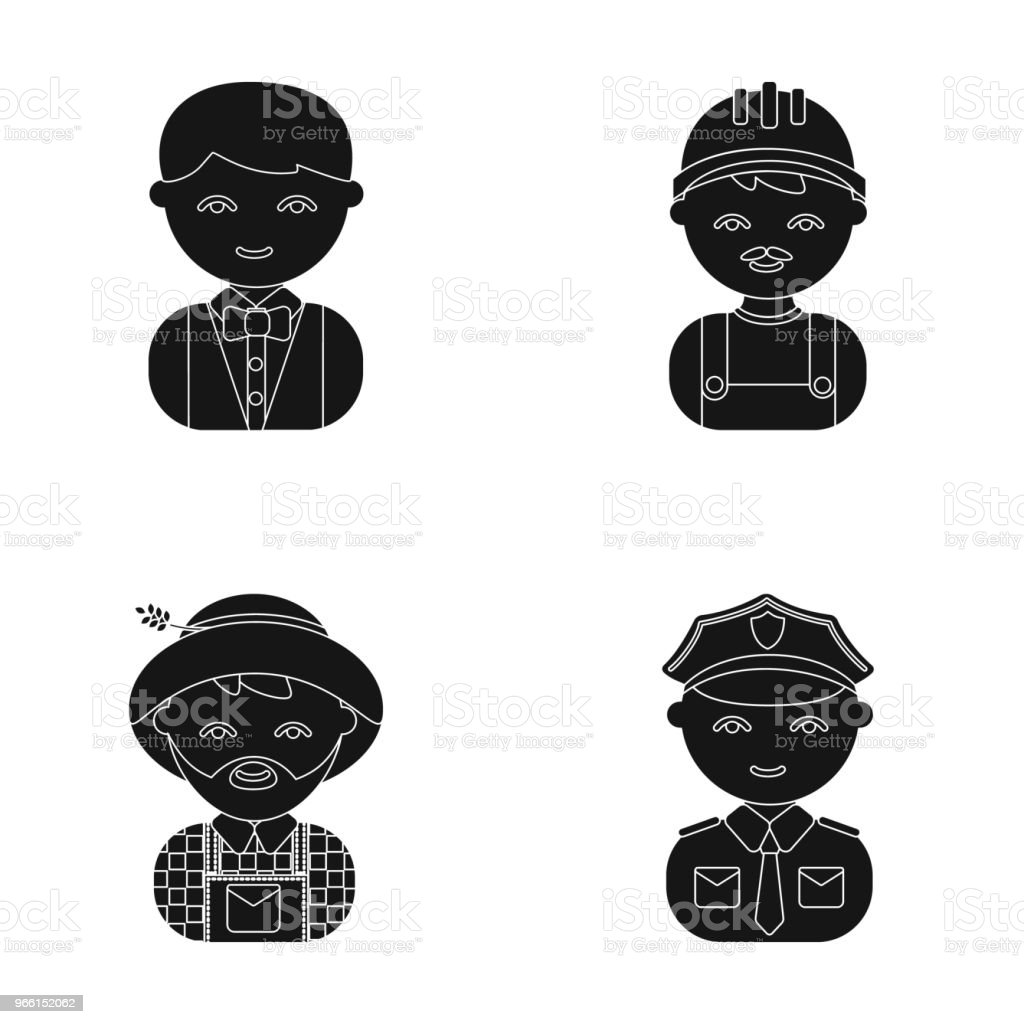 Cook, operator, fireman, artist.Profession set collection icons in cartoon style vector symbol stock illustration web. - arte vettoriale royalty-free di Agricoltore