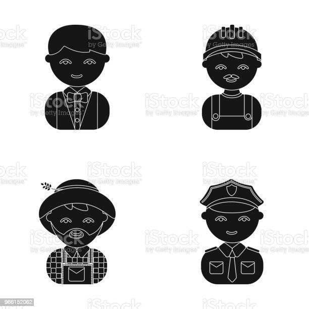Cuoco Operatore Pompiere Artista Professione Impostare Icone Di Raccolta In Stile Cartone Animato Simbolo Vettoriale Illustrazione Stock Web - Immagini vettoriali stock e altre immagini di Agricoltore