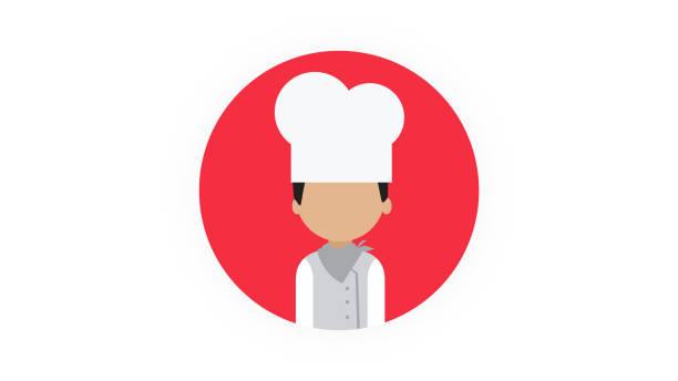 illustrations, cliparts, dessins animés et icônes de icône de personne de cuisinier - boulanger