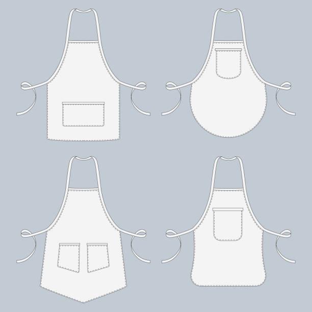 Cook uniform. Restaurant apron vector template collection vector art illustration