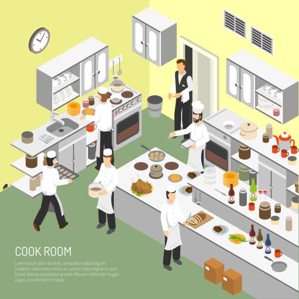 ilustrações de stock, clip art, desenhos animados e ícones de cook - kitchen counter