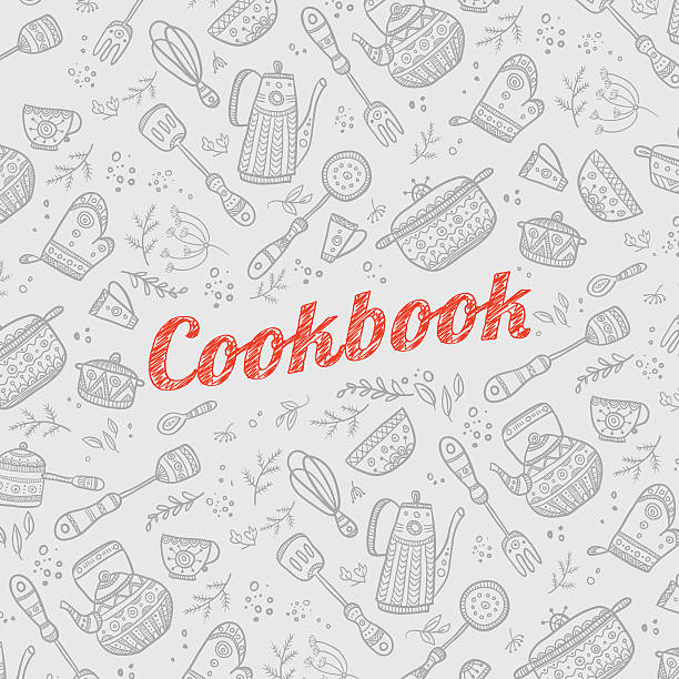 Cookbook Covers Clipart ~ Royalty free cookbook cover clip art vector images
